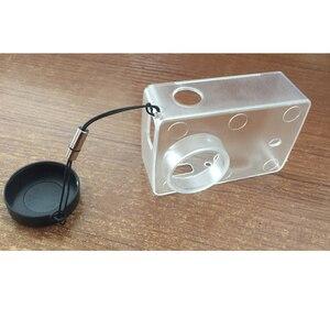 Image 3 - Chống Thấm Nước Bảo Vệ Vỏ Trong Suốt Siêu Mỏng Ốp Lưng Có Nắp Ống Kính Dành Cho Xiaomi Yi 4K Camera Hành Động 2 II Phụ Kiện