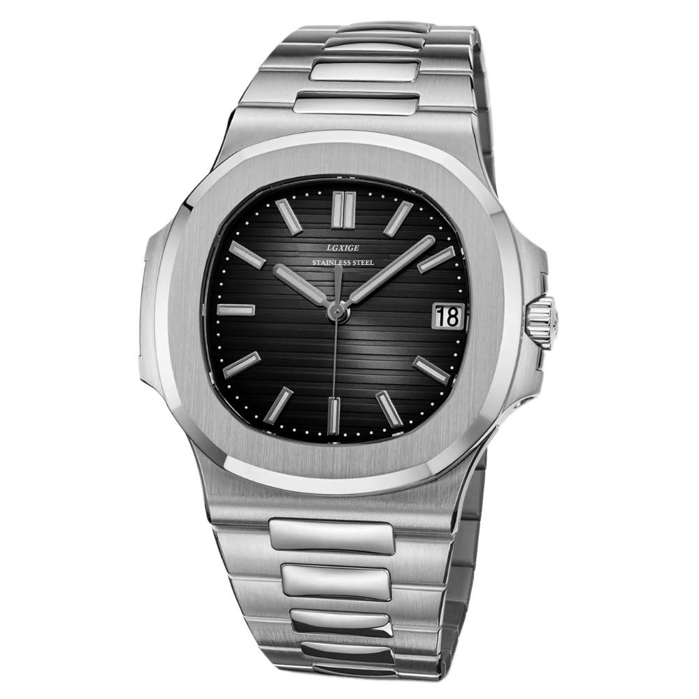 LGXIGE montres hommes de luxe marque hommes montres Top marque de luxe en acier inoxydable sport armée militaire montres à Quartz