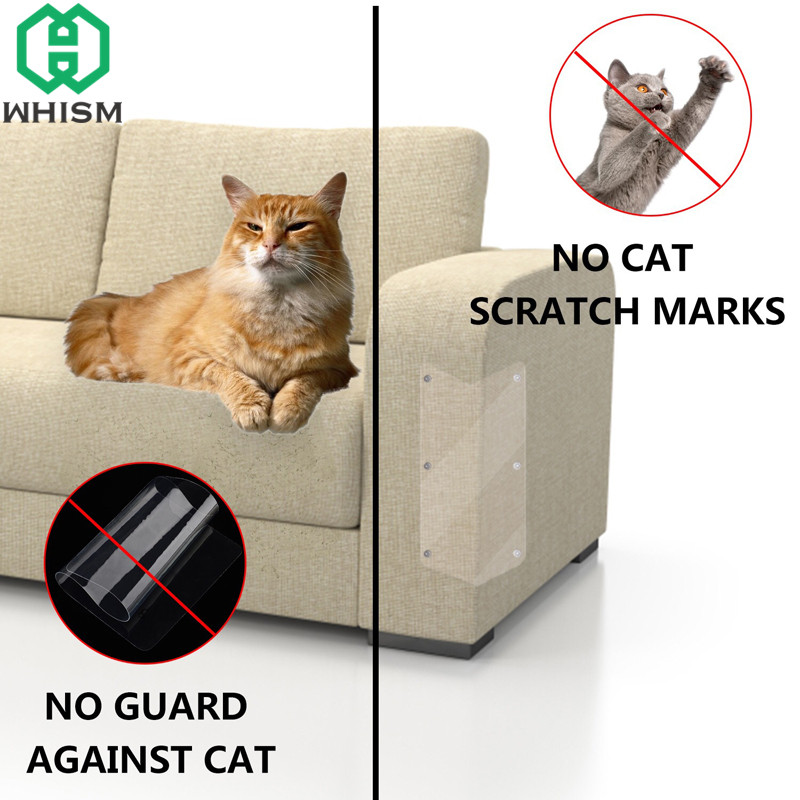 WHISM Plastic Cat Scratching Guards Transparent Sofa