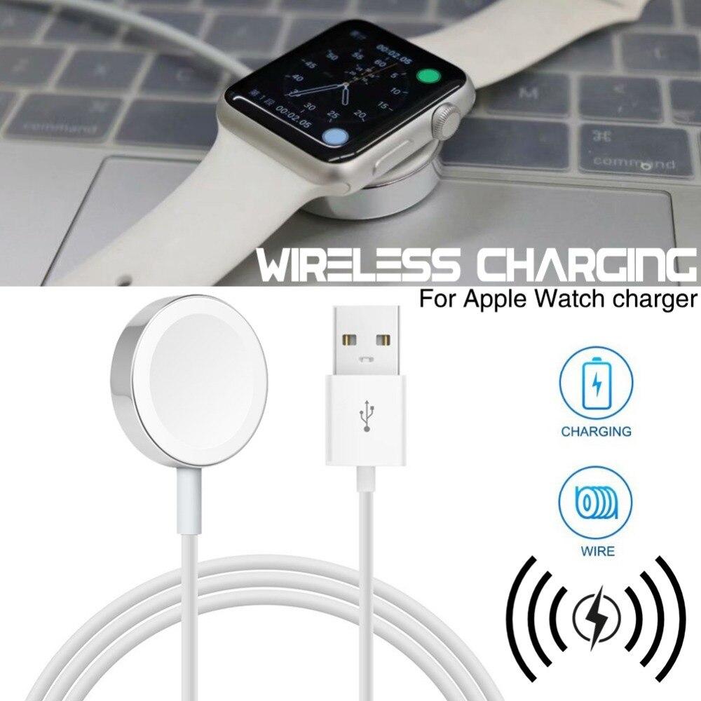 51e09533922 KPFLY Original 1 M rápido magnético inalámbrico Cable de carga para el reloj  de Apple adaptador de cargador para Watch serie 1, 2, 3, 38/42mm