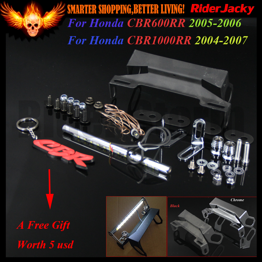 Motorcycle Fender Eliminator LED Light Tidy Tail For Honda CBR 600RR CBR600RR 2005 2006,CBR 1000RR CBR1000RR 2004 2005 2006 2007 aftermarket free shipping motorcycle parts eliminator tidy tail for 2006 2007 2008 fz6 fazer 2007 2008b lack