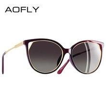 c2621fd7c139b AOFLY BRAND DESIGN Fashion Sunglasses 2018 Polarized Cat Eye Sun Glasses  For Women Rhinestone Temple UV400 A104