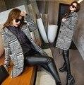 2016 Женщины Куртки Весна Осень капюшоном Пальто Проложенный Повседневная Пальто Куртки Мода Верхняя Одежда Плед Квилтинга Стеганый Парки пальто 2146