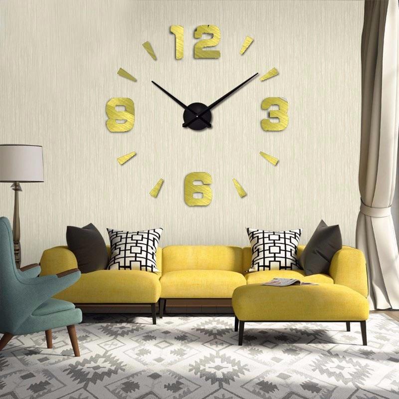 muhsein Wall Clock Creative Modern Sticker Unique black Big DIY 3D ...