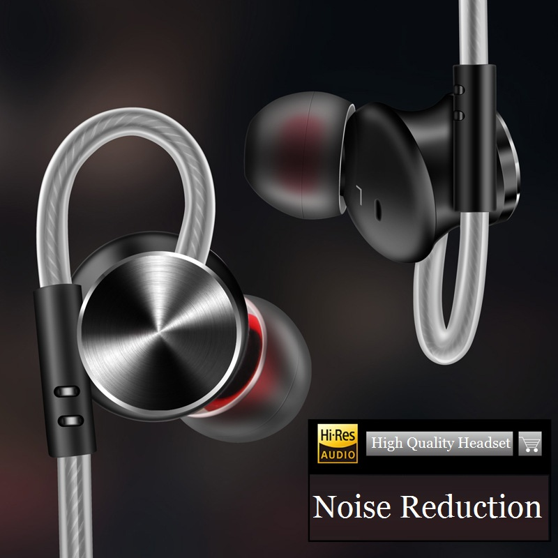 New Arrival Fashion Sports Earphone Super Bass Stereo Hifi Earbuds Magnet Metal Headphone with Microphone for Mobile Phone 2017 new six dynamic bass ear hifi earbuds earphone for mobile phone universal yinjw p8 magic song