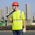 Ce EN471 ANSI / mar 107 AS / NZS de alta visibilidade roupas workwear segurança reflective t shirt