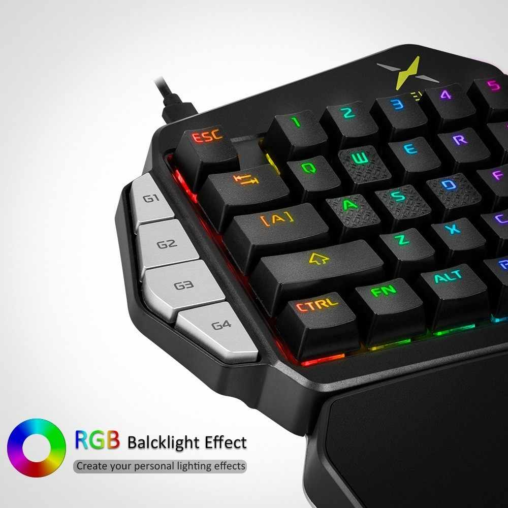 fa76b060bda ... Delux T9X Single-handed Mechanical Gaming Keypad fully programmable USB  wired keyboards with RGB backlight ...