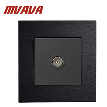 MVAVA Black Wooden Series TV Socket 86*90MM Home Television  AC110~250V UK/EU Standard Wall Light Free Shipping