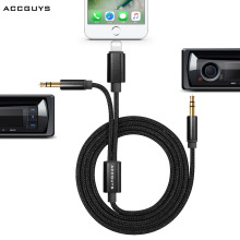 ACCGUYS 2 IN 1 Lighting Cable Dual 3.5mm Headphone Jack Adapter Earphone Adapter 1m for iphone7 / iphone 7 plus/Samsung/type c
