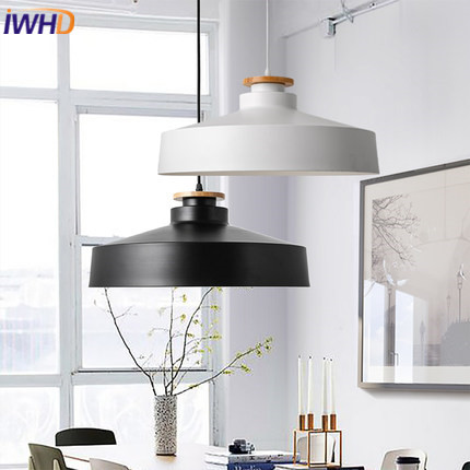 IWHD Iron LED Pendant Lights Modern Creative Lid Light Fixtures Home Lighting Bedroom Luminaire Hanging Lamp Lamparas Hanglamp iwhd led pendant light modern creative glass bedroom hanging lamp dining room suspension luminaire home lighting fixtures lustre
