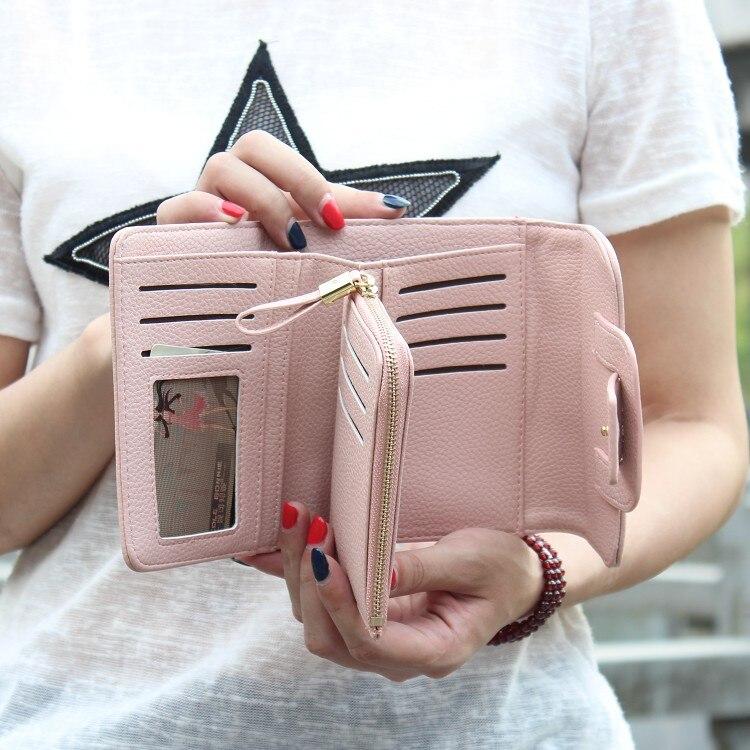 novo luxo soft pu leather Interior : Coin Pocket, note Compartment, photo Holder, suporte de Cartão