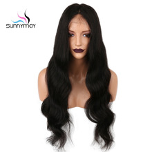 Sunnymay Pre Plucked Full Lace Human Hair Wigs With Baby Hair Remy Brazilian Wigs For Black Women Bleached Knots Body Wave Wigs