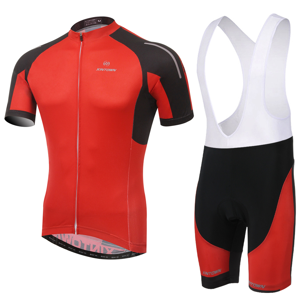 Hot Men Cycling Set !  Cycling Short Sleeve Jersey And Shorts Bib Set Ropa Ciclismo Outdoor Sports Suit Green/Red For Summer cycling jersey 176 hot selling hot cycling jerseys red lily summer cycling jersey 2017 anti shrink compressed femail adequate qu