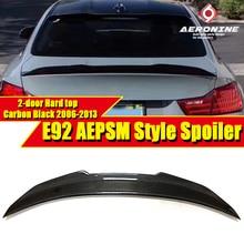 E92 2 door Hard top PSM Style Spoiler Rear Diffuser Trunk Wing Carbon Fiber For 3 series 325i 330i 335i 2006-2013