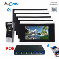 7'' Touch Screen Wireless WIFI IP Video Door Phone Intercom Video Doorbell Villa Access Control System Motion Detection 2-4 POE