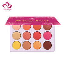 New Aurelife Release Heart 12 Color Shimmer and Matte Eye Shadow Palette Yarrow Pink Glitter Eyeshadow Pallete Brand cosmetics