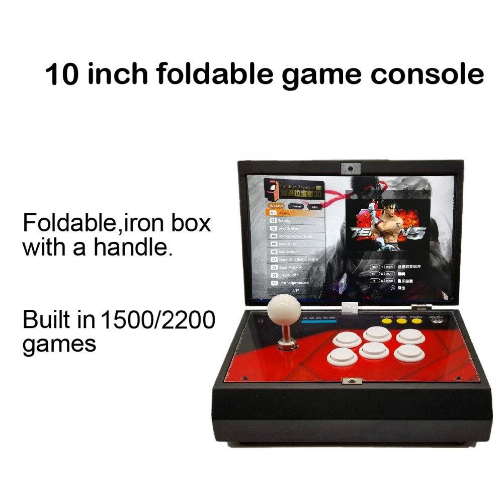 """10"""" Pandora Treasure 3D 2200 in 1 Arcade Console Portable Arcade Box 9 with Zero Delay Joystick Button Retro Video Machine"""