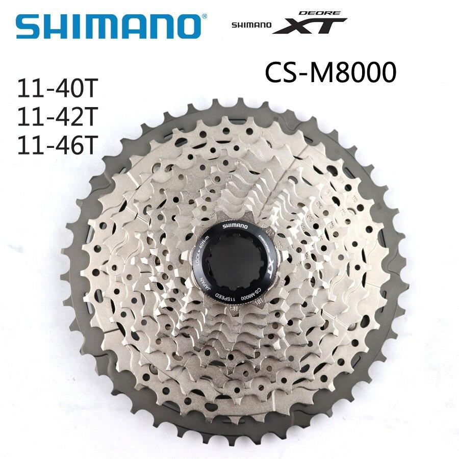 シマノ XT CS M8000 CS M8000 本物カセットスプロケット 11S スピードフリーホイール 11 40T 11 42T 11 46T MTB フライホイール自転車部品  グループ上の スポーツ & エンターテイメント からの 自転車フリーホイール の中 1