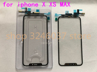 30pcs Original For Apple iPhone X XS MAX Touch Screen Digitizer Flex Cable+Front Glass LCD Outer Panel Top Lens Replace Part