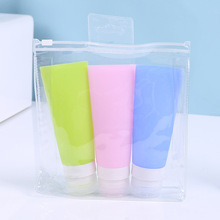 цены 38ML/80ML Empty Silicone Refillable Bottles Mini Portable Cosmetic Dispenser Jars Liquid Cosmetic Containers Travel Use