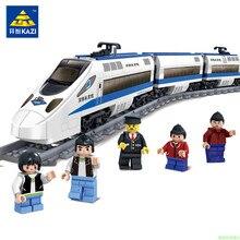 KAZI KY98104 Nouveau 415 PCS GBL Batterie Alimenté Électrique Train Haute-vitesse Rail DIY Building Block Cadeau jouets pour enfants