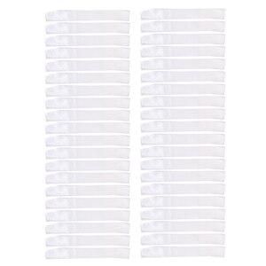 Image 2 - Pack of 40 Plain Blank Satin Ribbon Sash DIY Accessories White
