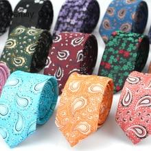 New Style Ties for Men Paisley Polyester Jacquard Woven Mens Necktie Formal Wedding Party Slim Neck tie Gravata Narrow TIE