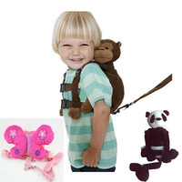 Monkey 2 In 1 Baby Kids Keeper Assistant Toddler Walking Safety Harness Backpack Bag Strap Harnesses