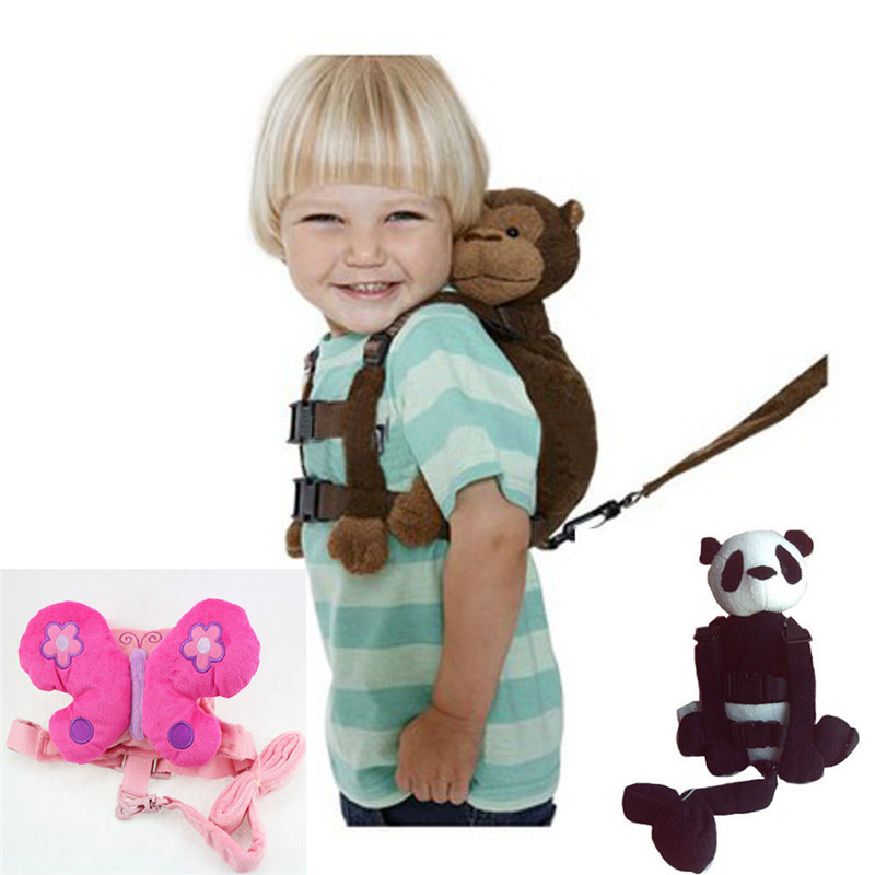 Monkey 2-in-1 Baby Kids Keeper Assistant Toddler Walking Safety Harness <font><b>Backpack</b></font> Bag Strap Harnesses & Leashes T30