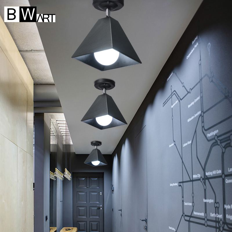 Bwart industrial chandelier lighting luminaire Hanging  lamp loft style suspension luminaire for hallway aisle cafe hotel room