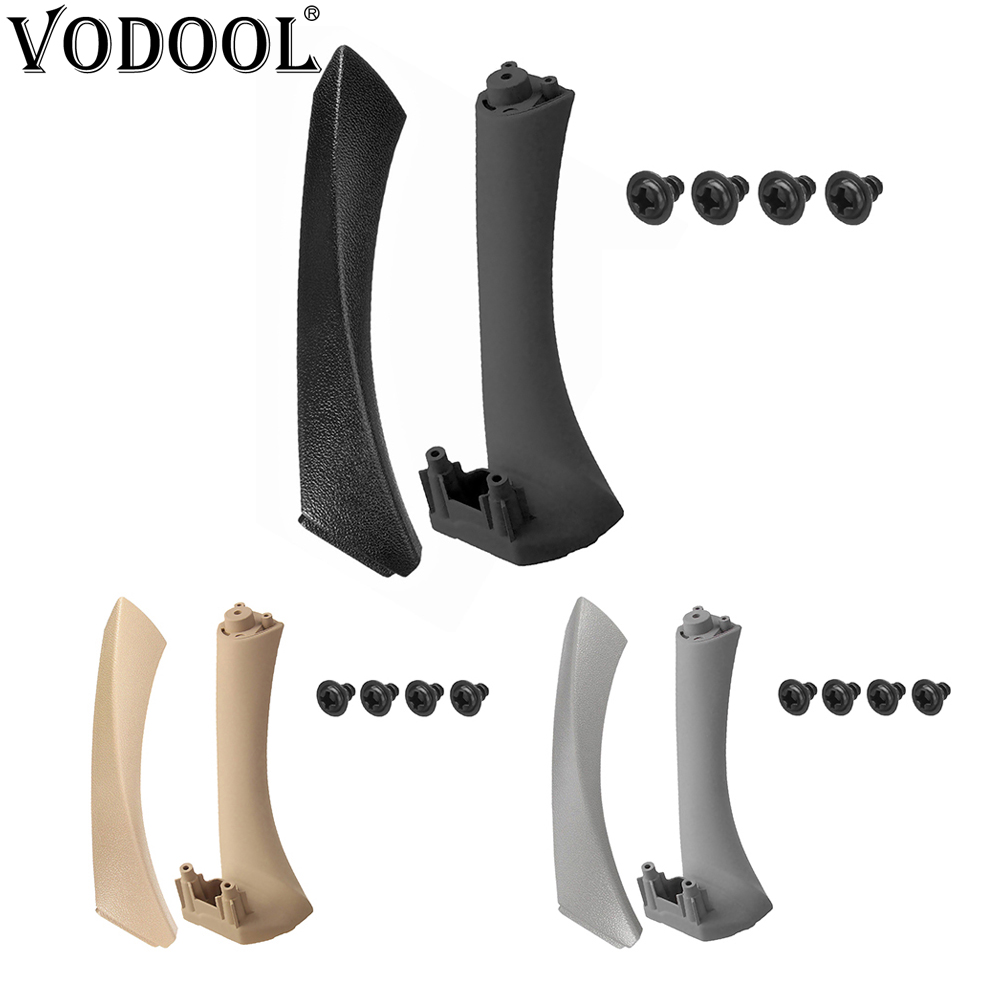 VODOOL Car Front Rear Inner Door Panel Pull Trim Handle Holder Cover Set Auto Interior Car Accessories For BMW 3 Series E90 E91