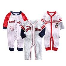 Купить с кэшбэком Brand 2019 fashion baby pajamas & sleepwear baby clothing baby boys clothes for girls rompers 100% cotton baby rompers newborn