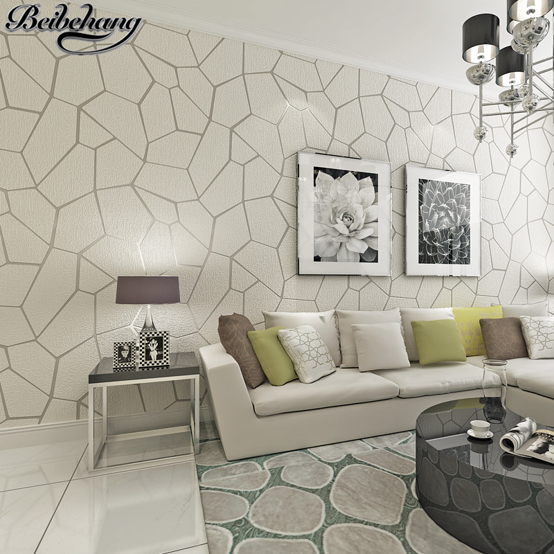 30 Modern Living Room Design Ideas To Upgrade Your Quality: Beibehang Papel De Parede High Quality Geometric Carved