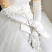 2017 Ultra Long Beaded Wedding Gloves Liturgy Gloves Bridal Gloves Banquet Gloves Meters White Red Black G003