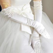 Ultra long beaded formal dress wedding gloves liturgy bridal banquet meters white red black G003