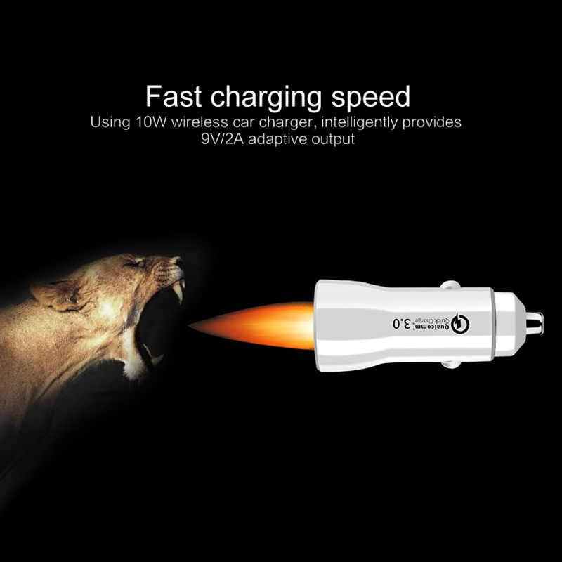 Cargador de coche USB carga rápida 3,0 cargador de teléfono móvil 2 puertos USB cargador de coche rápido para iPhone Samsung xiaomi Tablet coche-cargador