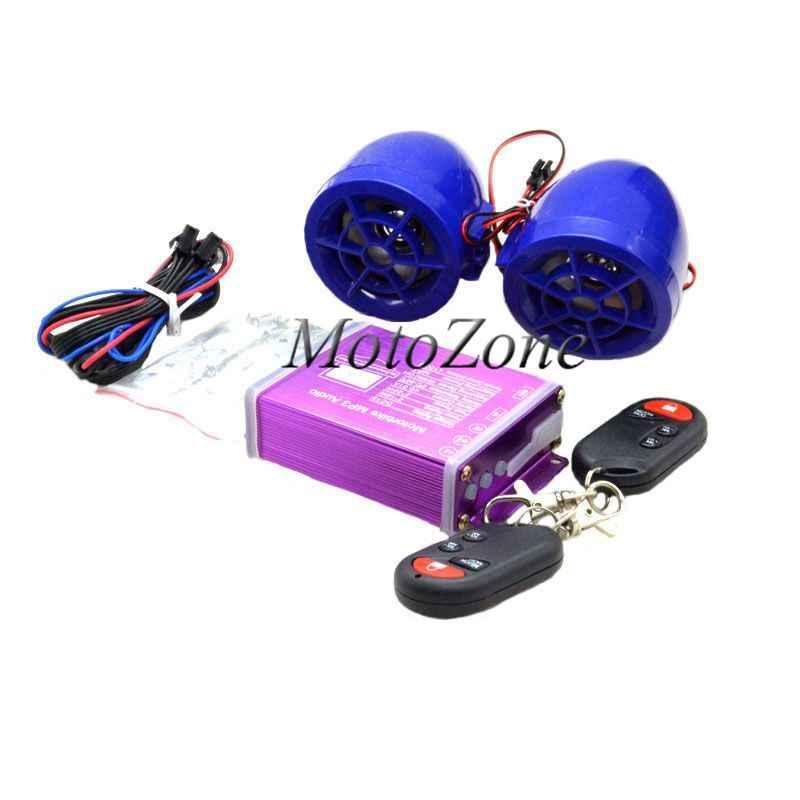 Водостойкая мотоциклетная цифровая аудио MP3 музыкальный плеер противоугонная система безопасности с пультом дистанционного управления