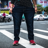 Super Fat Plus Cotton Stretch Jeans Male Loose Larger Straight Trousers Autumn And Winter Models