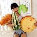 Creative 3D de simulação de frutas e legumes alimentos adereços repolho almofadas travesseiro brinquedos de pelúcia pequenos presentes brinquedos
