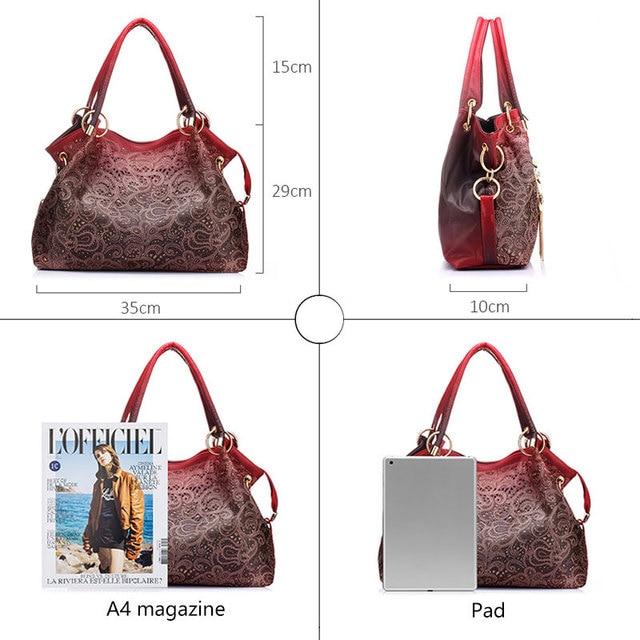 Ombre Floral Print Shoulder Bags 2