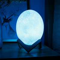 18CM 3D Printing Dinosaur Egg Decorative Lights For Party Festival DIY Creative Night Lamp With a 24 Keys Remote Controller