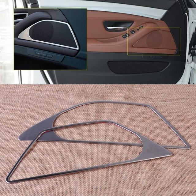Citall Car styling cromo interior puerta altavoz marco cubierta de ...
