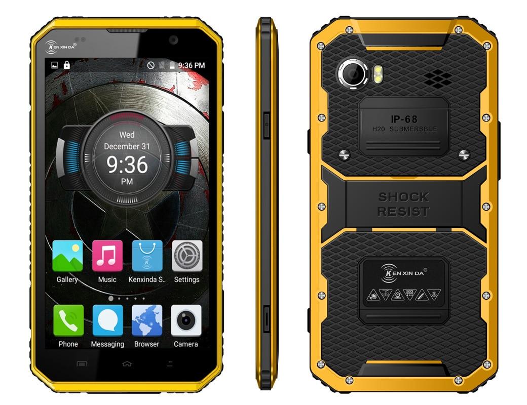 Kenxinda W9 IP68 ultra dunne Slanke Waterdichte telefoon Mobiele Shockproof 4G LTE MTK6753 8 Octa Core 6 Android Robuuste Smartphone - 2