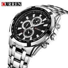 Top Marca de Lujo de Los Hombres Militares Relojes de Pulsera CURREN 8023 hombres Relojes Completas de Acero de Los Hombres Reloj Deportivo Resistente Al Agua Relogio masculino