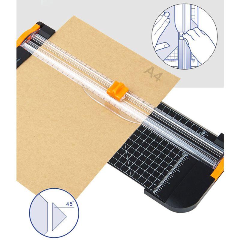A4 Rotary Papier Trimmer Guillotines Papier Foto Karte Schiebe Schneiden Maschine Mit Lineal Fliesen Raster Winkel Trimmen Für Home Office