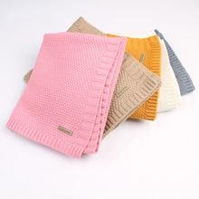 Baby Blanket Knitted Newborn Swaddle Wrap Blankets Super Soft Toddler Infant Bedding Quilt For Bed Sofa Basket Stroller