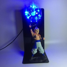 цена на Dragon Ball Z Super Saiyan Vegetto LED Light Toy Dragon Ball LED Lamp Figure Jouet Display Model Toys Children Gift