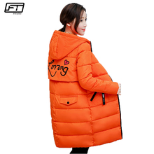 Fitaylor Hooded Thick Warm Winter Jacket Women Plus Size Black Long Parka Mujer Casual Letter Print Slim Coat Female Overcoats