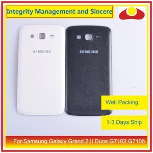 Image 3 - Оригинальный чехол для Samsung Galaxy Grand 2 II Duos G7102 G7106, задняя крышка батарейного отсека, задняя крышка корпуса, замена корпуса