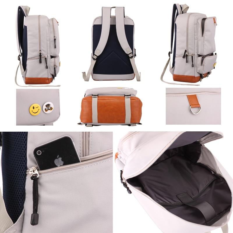 AC DC noctilucous school bag Game backpack student school bag Daily backpack men women Rucksack Notebook backpack